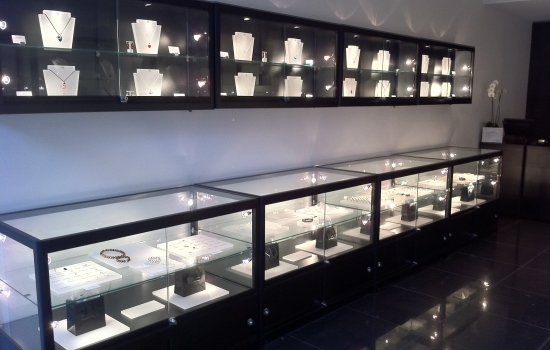 Jewelry display cases for little business